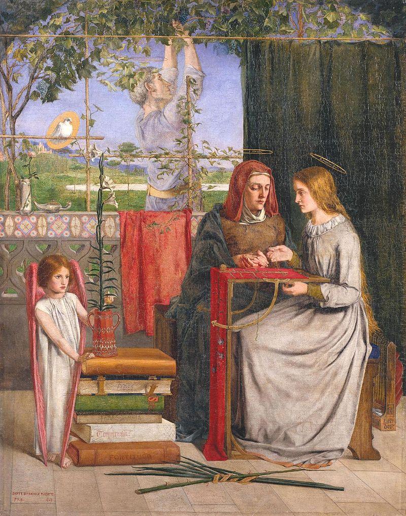 Воспитание Марии. Данте Габриэль Росетти