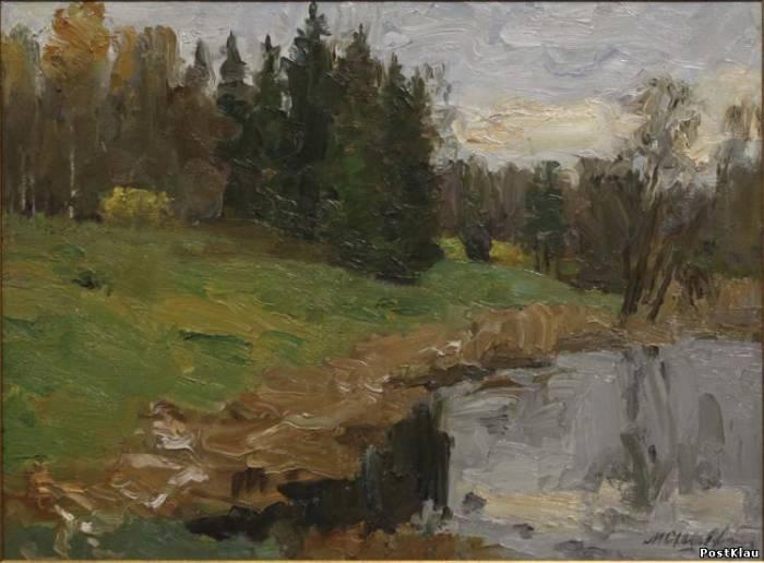 Осень в Павловском парке. ХМ. 50х70. 2007